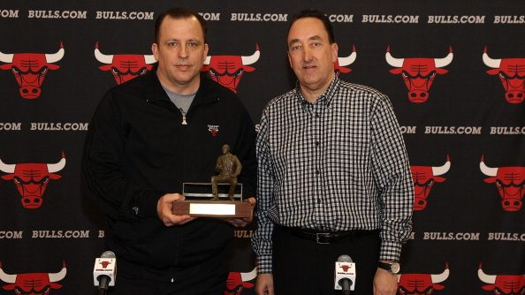 Former Bulls coach Tom Thibodeau and general manager Gar Forman