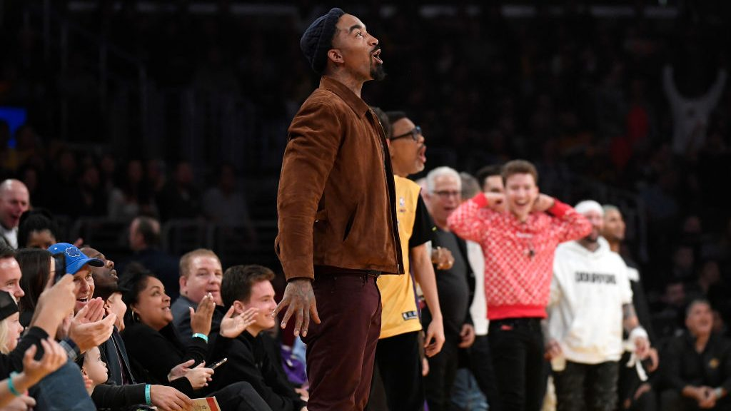 J.R. Smith at Lakers game