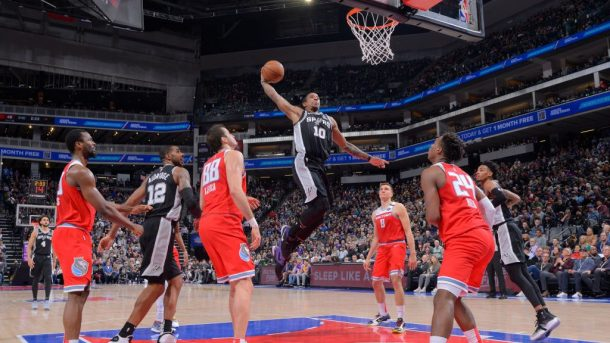Spurs guard DeMar DeRozan vs. Kings