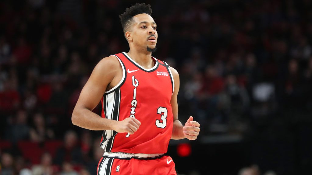 Trail Blazers guard CJ McCollum