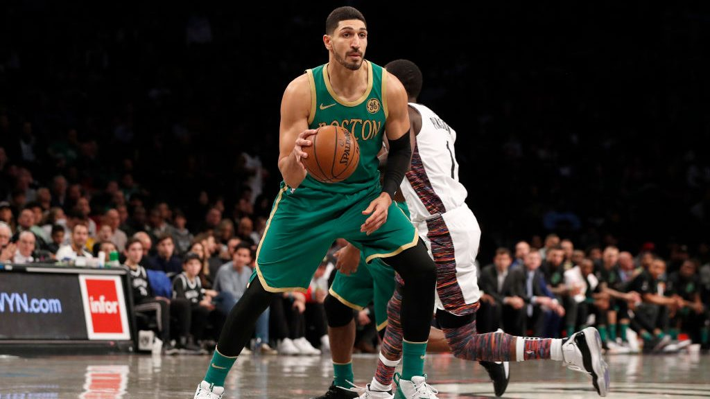 Celtics center Enes Kanter vs. Nets