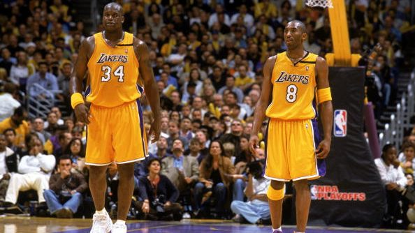 Lakers Shaquille O'Neal and Kobe Bryant