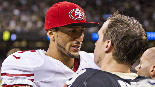 Colin Kaepernick and New Orleans Saints Drew Brees