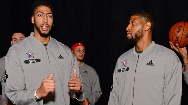 Former Pelicans forward Anthony Davis and former Pacers forward Paul George