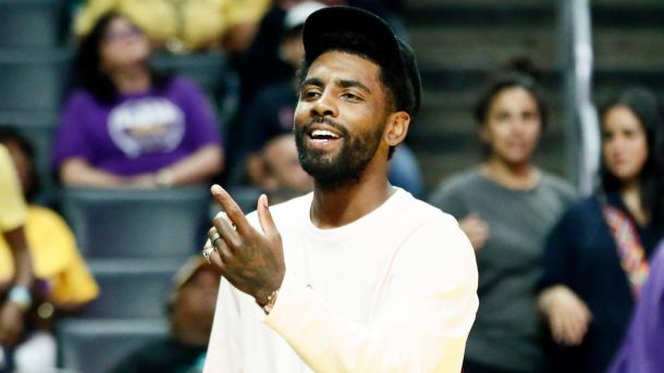 Kyrie Irving at WNBA game
