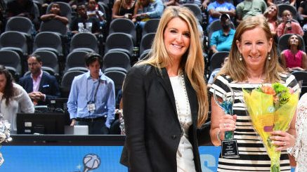 WNBA commissioner Cathy Engelbert and Atlanta Dream co-owner Kelly Loeffler