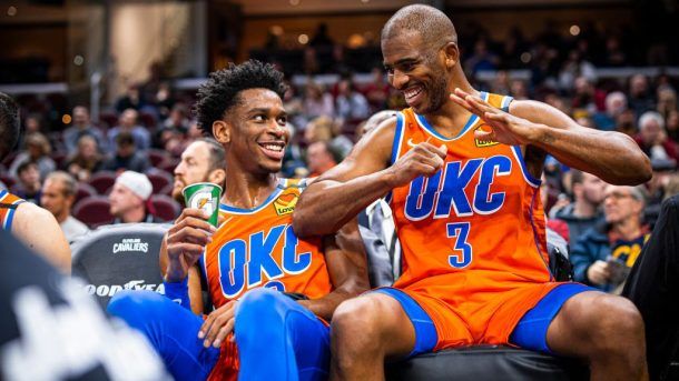 Thunder guards Shai Gilgeous-Alexander and Chris Paul
