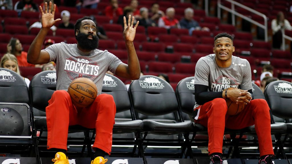 Rockets stars James Harden and Russell Westbrook