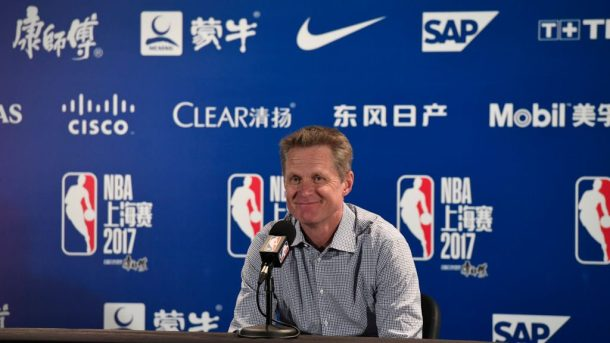 Warriors coach Steve Kerr in China