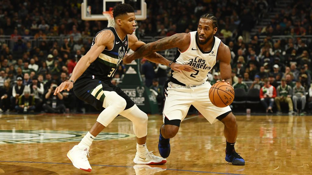 Clippers star Kawhi Leonard and Bucks star Giannis Antetokounmpo