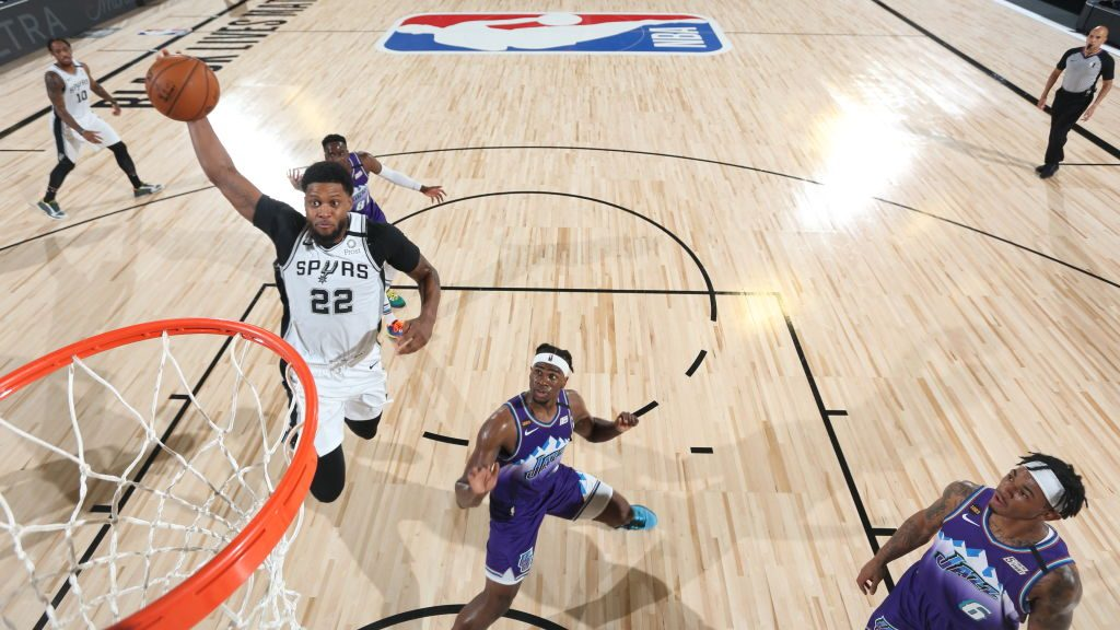 Spurs forward Rudy Gay vs. Jazz