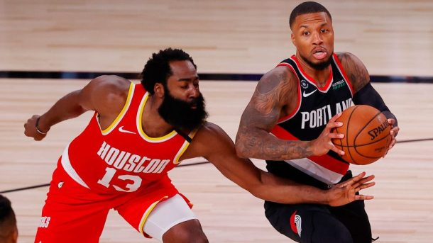 Trail Blazers star Damian Lillard and Rockets star James Harden
