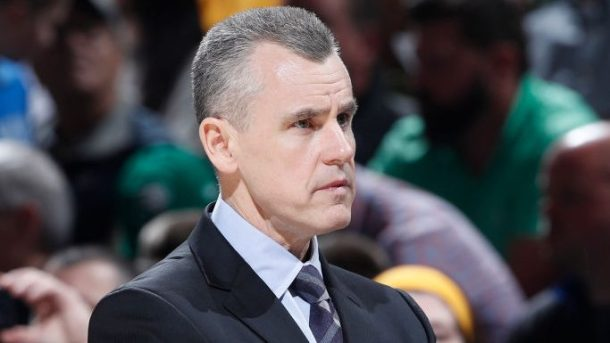 Billy Donovan coaches Thunder vs. Pacers