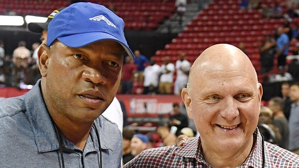 Doc Rivers and Clippers owner Steve Ballmer