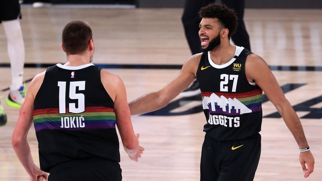 Jamal Murray and Nikola Jokic in Clippers-Nuggets Game 6