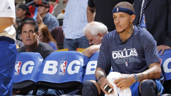 Mavericks owner Mark Cuban with Delonte West
