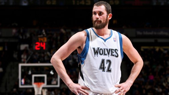 Cavaliers forward Kevin Love with the Timberwolves in 2012