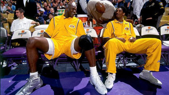 Lakers stars Kobe Bryant and Shaquille O'Neal