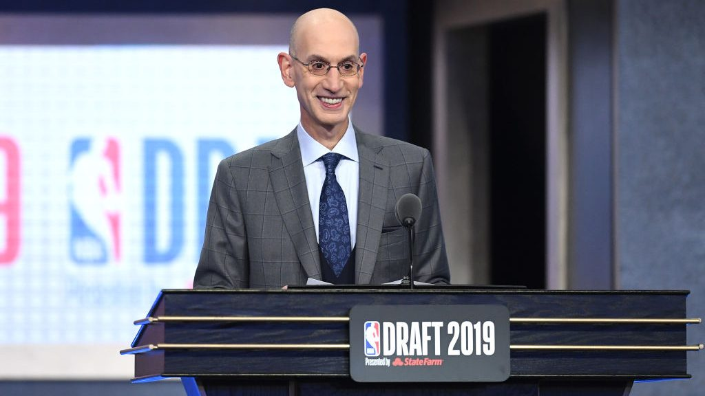 NBA commissioner Adam Silver at NBA draft