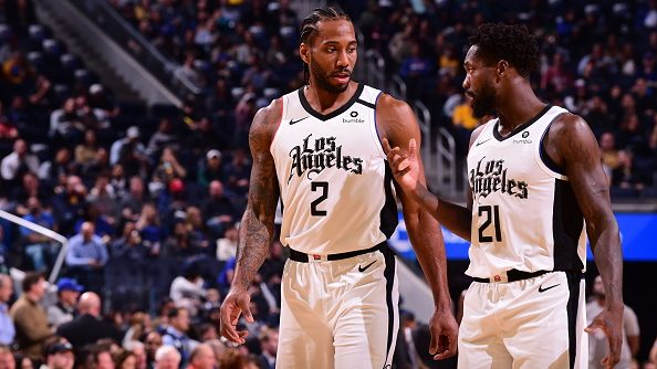 Clippers star Kawhi Leonard and guard Patrick Beverley