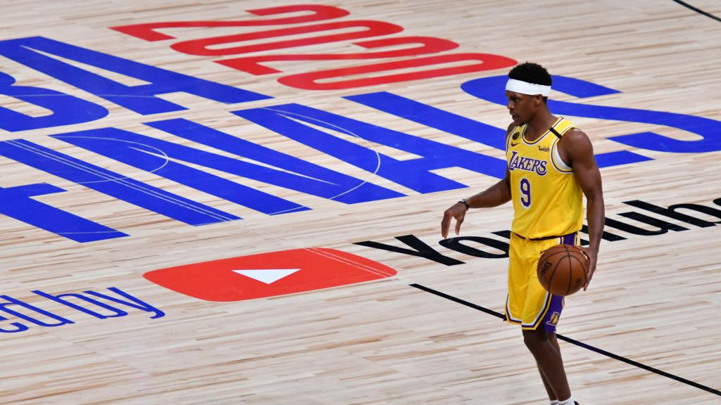 Lakers guard Rajon Rondo in NBA Finals vs. Heat