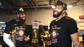 Lakers stars LeBron James and Anthony Davis