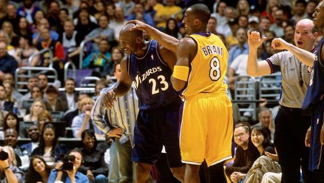 Wizards star Michael Jordan and Lakers star Kobe Bryant