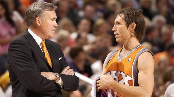 Former Suns coach Mike D'Antoni and new Nets coach Steve Nash