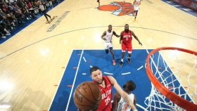 Rockets guard Austin Rivers vs. Knicks