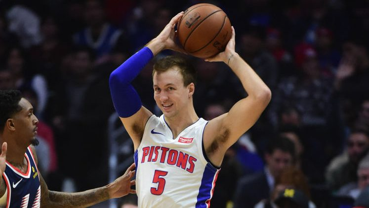 Pistons guard Luke Kennard vs. Clippers