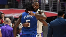 Clippers big Montrezl Harrell and Lakers star LeBron James