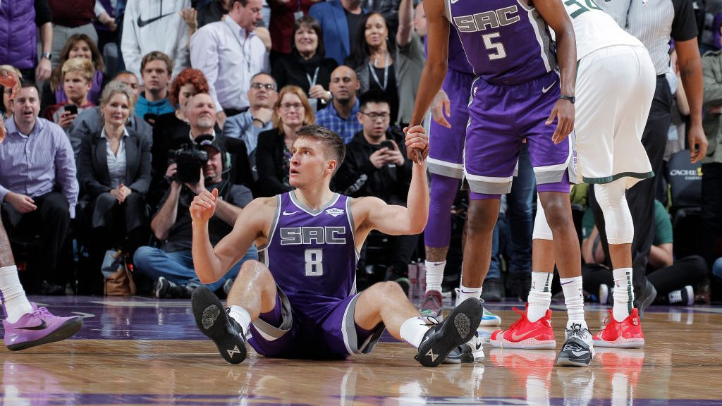 Kings guard Bogdan Bogdanovic vs. Bucks