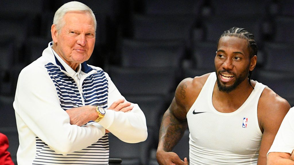 Clippers executive Jerry West and Kawhi Leonard