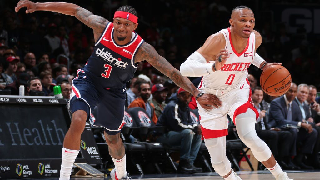 Wizards guard Bradley Beal and former Rockets guard Russell Westbrook