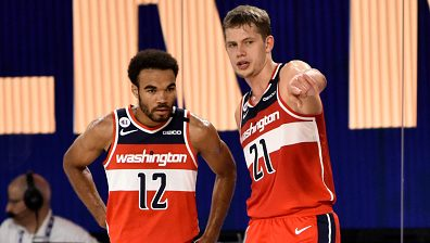 Wizards players Jerome Robinson and Moritz Wagner