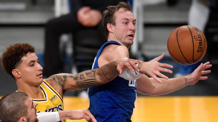 Lakers forward Kyle Kuzma and Clippers guard Luke Kennard