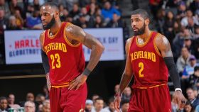 Former Cavaliers stars LeBron James and Kyrie Irving