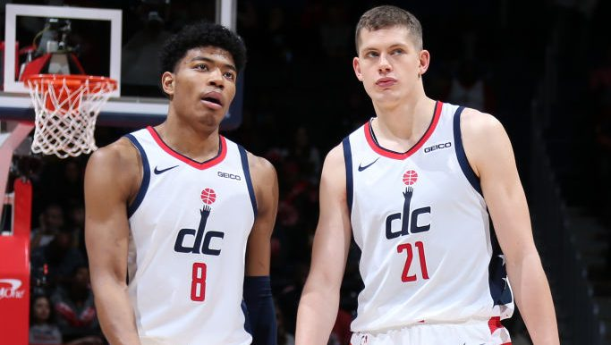 Wizards forward Rui Hachimura and Moritz Wagner
