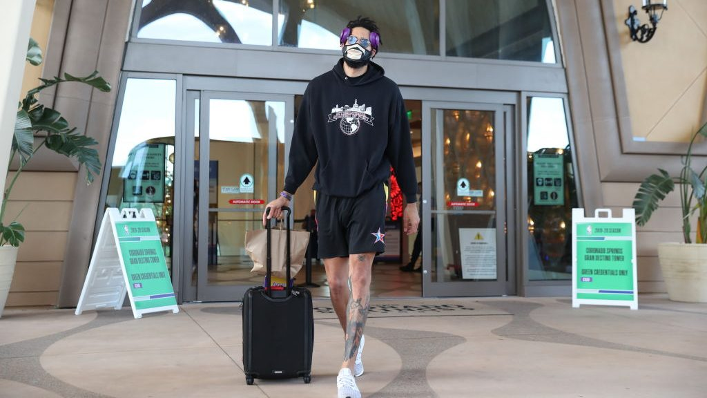 NBA player JaVale McGee at hotel