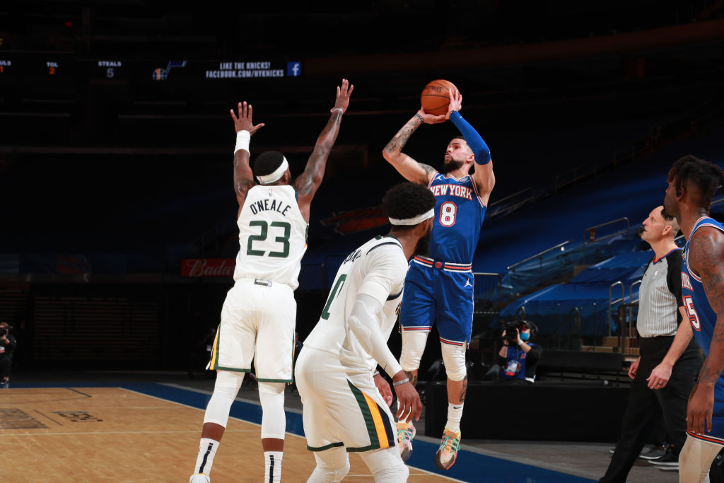 Knicks Austin Rivers Outscores Jazz Down The Stretch 14 4 Video