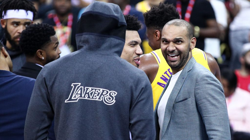 Jared Dudley at Lakers-Nets game in China