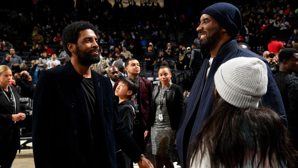 Nets star Kyrie Irving and Kobe Bryant