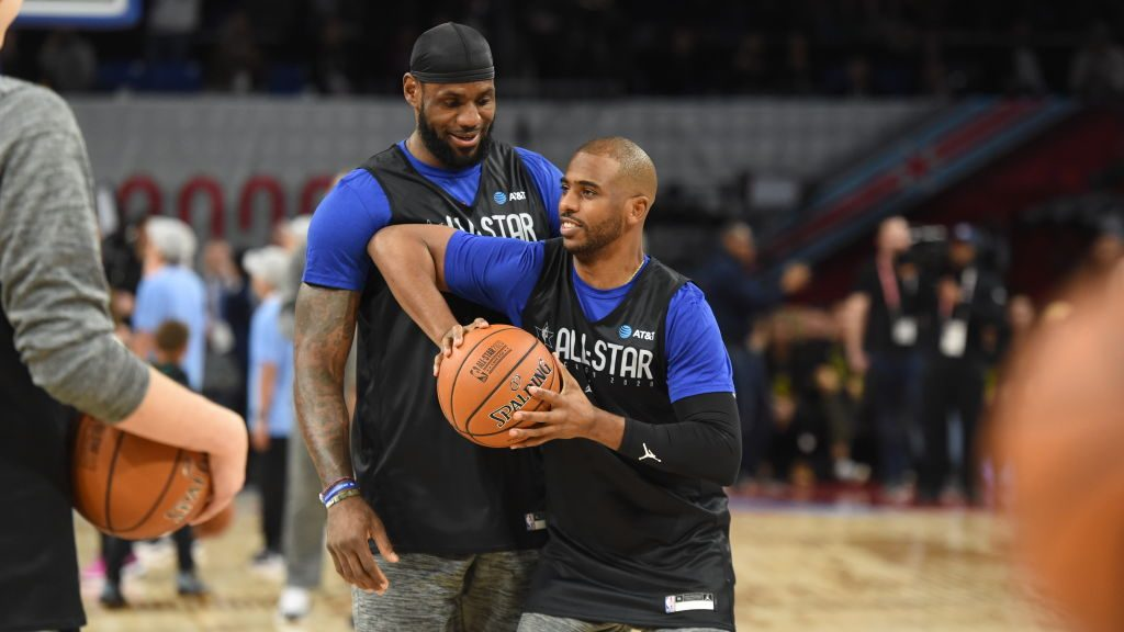 Lakers star LeBron James and players' union president Chris Paul