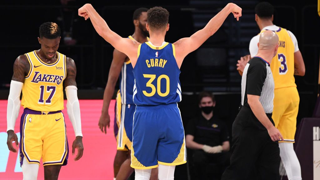 Warriors star Stephen Curry vs. Lakers