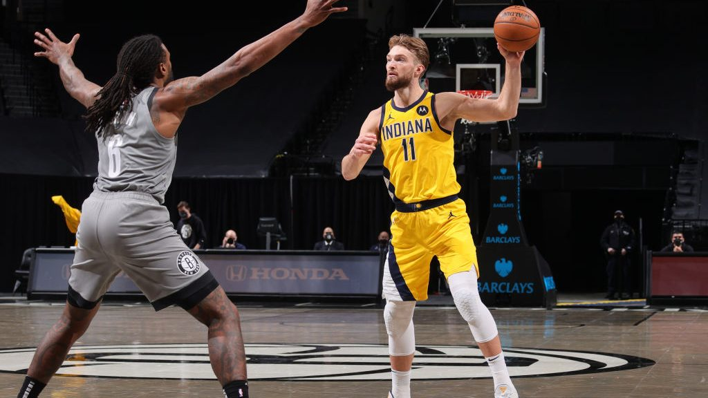 Pacers big Domantas Sabonis vs. Nets