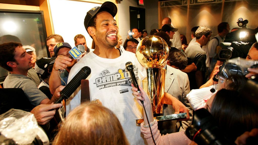 Robert Horry after winning 2005 NBA championship with Spurs
