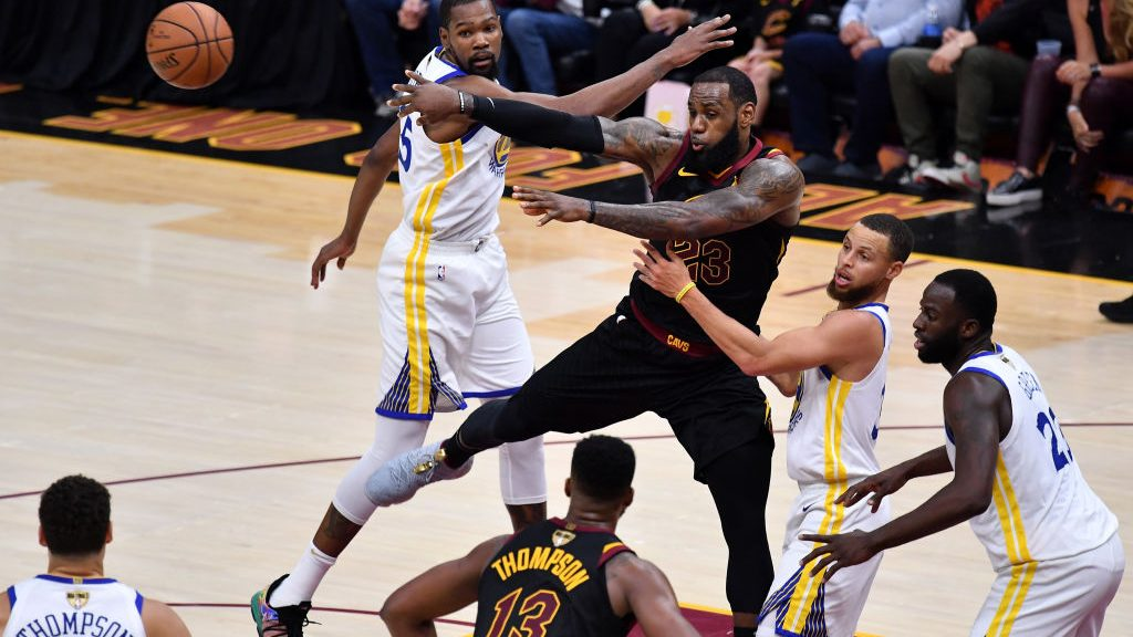 LeBron James, Kevin Durant, Draymond Green and Klay Thompson in Cavaliers-Warriors 2018 NBA Finals