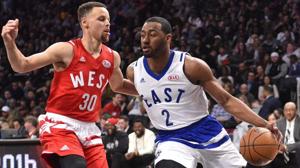 Stephen Curry and John Wall in 2016 NBA All-Star game
