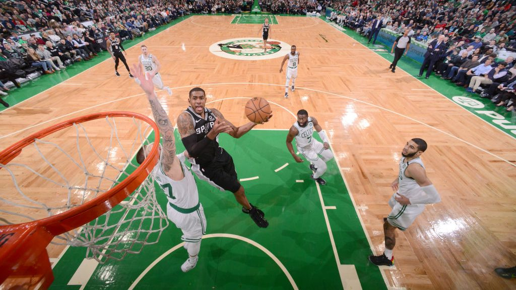 Spurs big LaMarcus Aldridge vs. Celtics