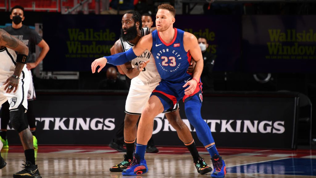 Pistons forward Blake Griffin and Nets star James Harden